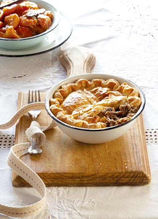 Venison pie. Because heaven lies at the intersection of game, gravy, and pastry.