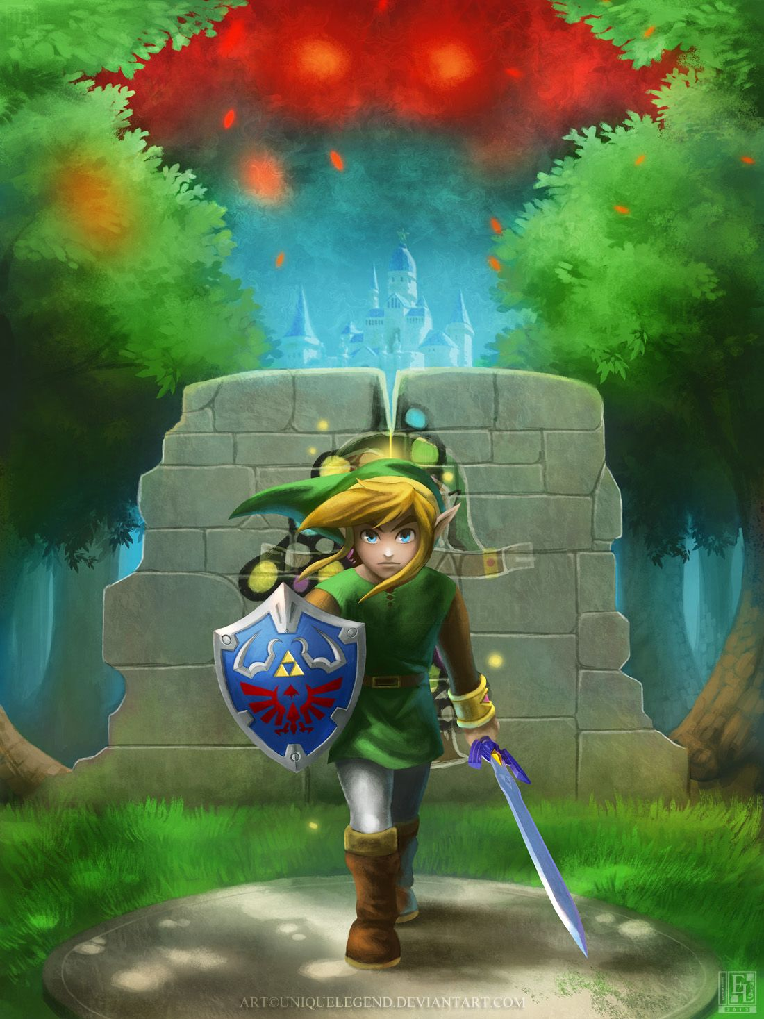A Link Between Worlds By Eternalegend On Deviantart Legend Of Zelda Zelda Art Legend