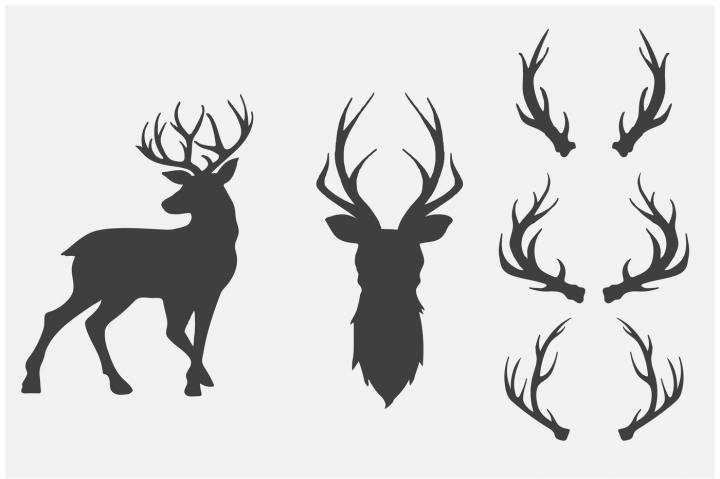 Hand Drawn Antlers & Deer for Crafters By Brandi Lea