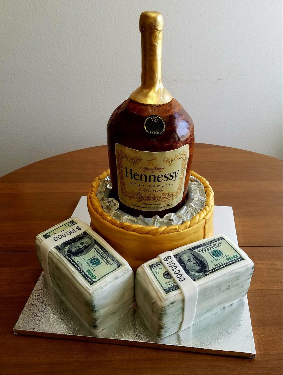 Hennessy cake in 2020 hennessy cake bottle cake sweet