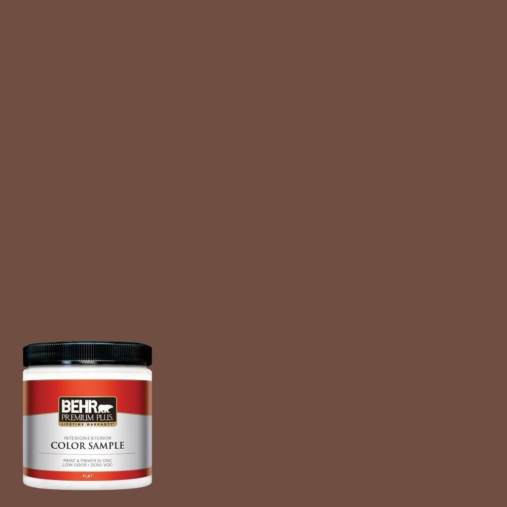 BEHR Premium Plus 8 oz. #N160-7 Brown Velvet Interior/Exterior Paint Sample