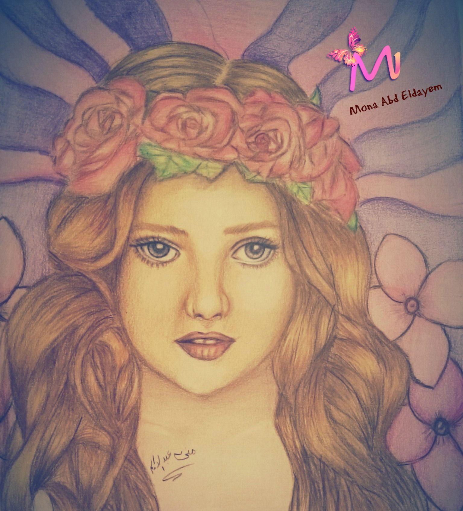 Drawing By Mustafa Saadi Cartoon Girl Drawing Girl Cartoon Drawings