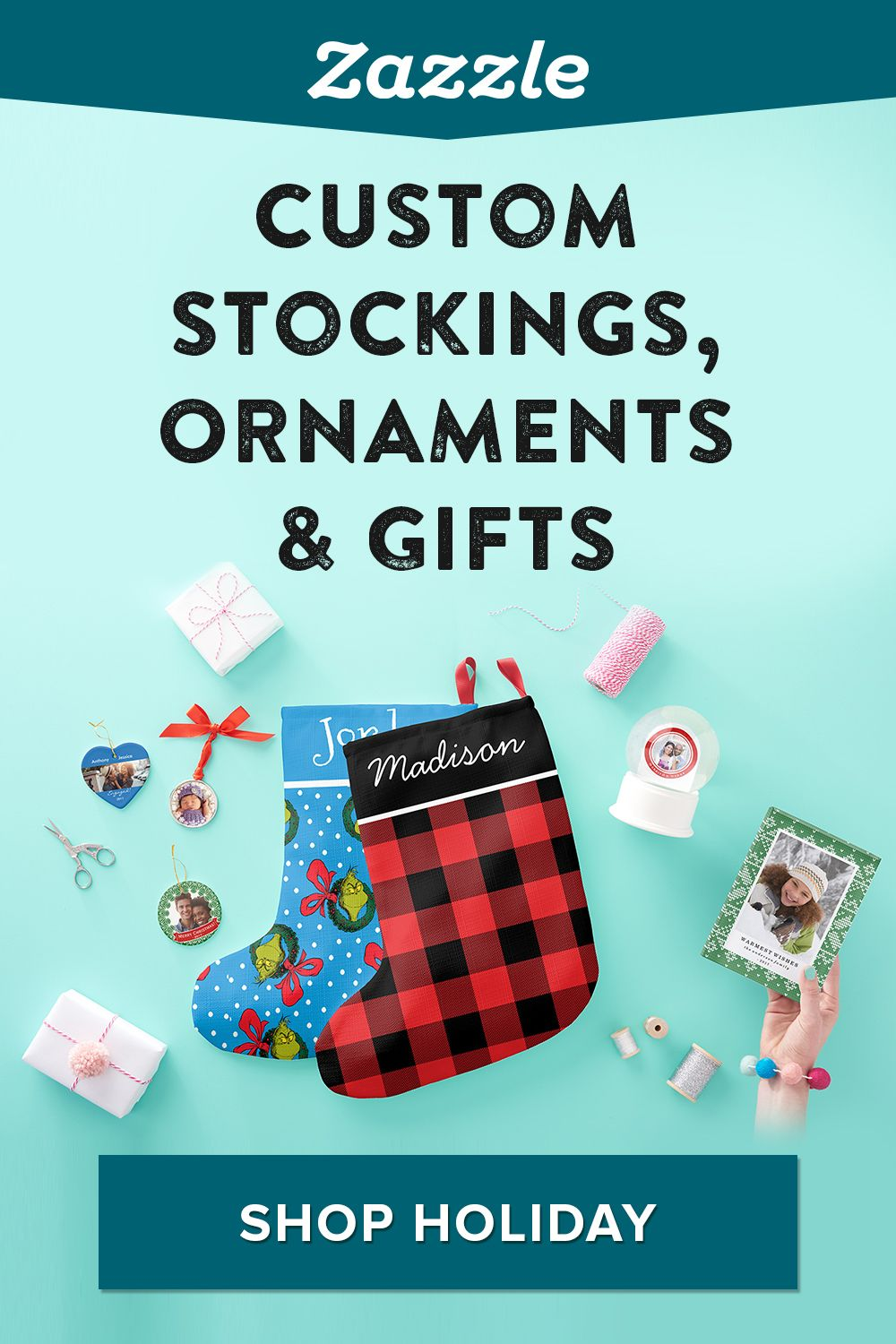 Find the perfect gift for everyone on your list. Browse ornaments, t-shirts, face masks, mugs and more. Choose from thousands of designs for kids, adults, and pets.