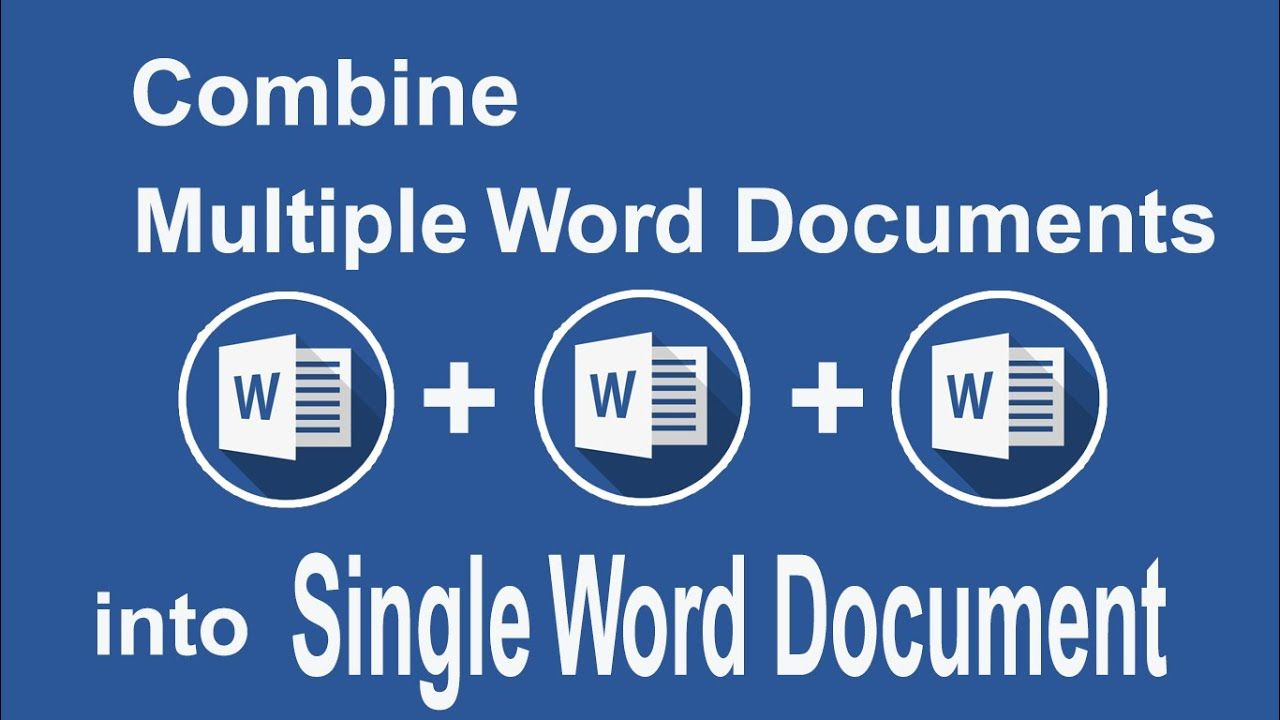 How To Combine Multiple Word Documents Into Single Word Document In 2020 Single Words Words Single