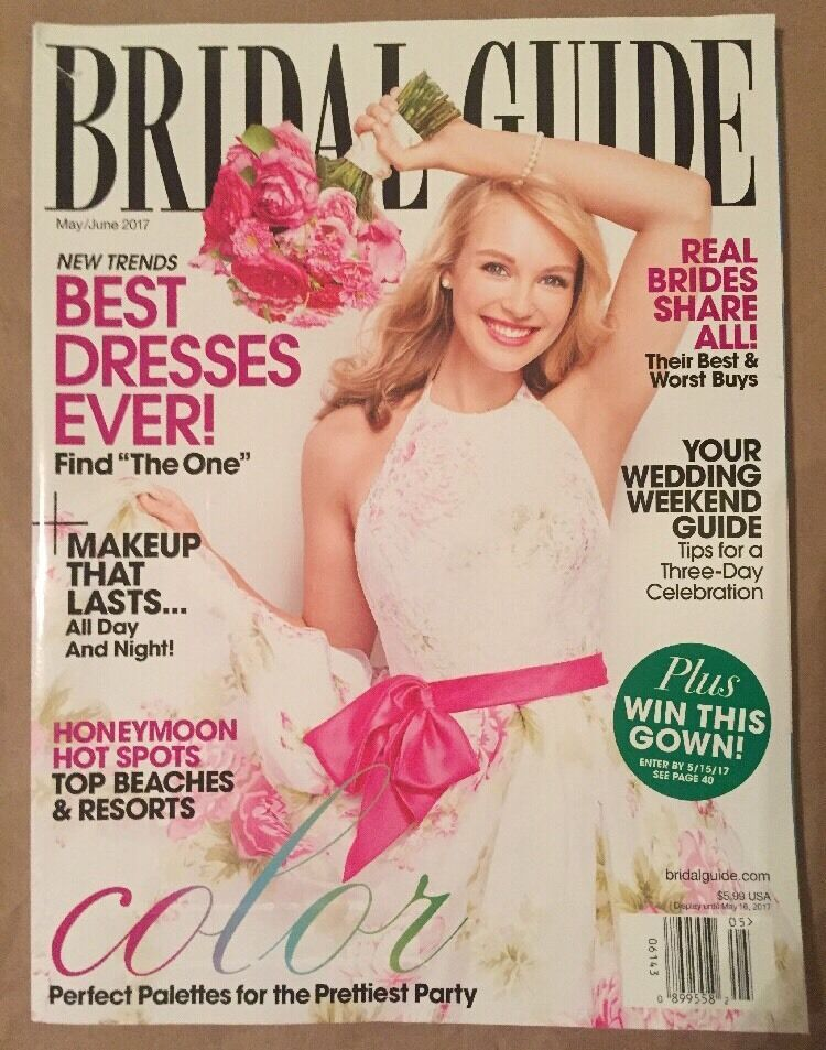Bridal Guide Magazine June 2017 New Ship Free Best Dresses Honeymoon In 2020 Bridal Guide Magazine Bridal Guide Free Wedding Magazines