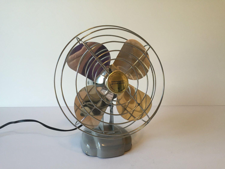 Vintage Electric Fan, Manning Bowman Fan, Portable Electric Fan, Industrial Fan, Desk Fan, Wall Mount Fan, Tilt Model Fan, Model #085002 by GirlGoesVintage on Etsy