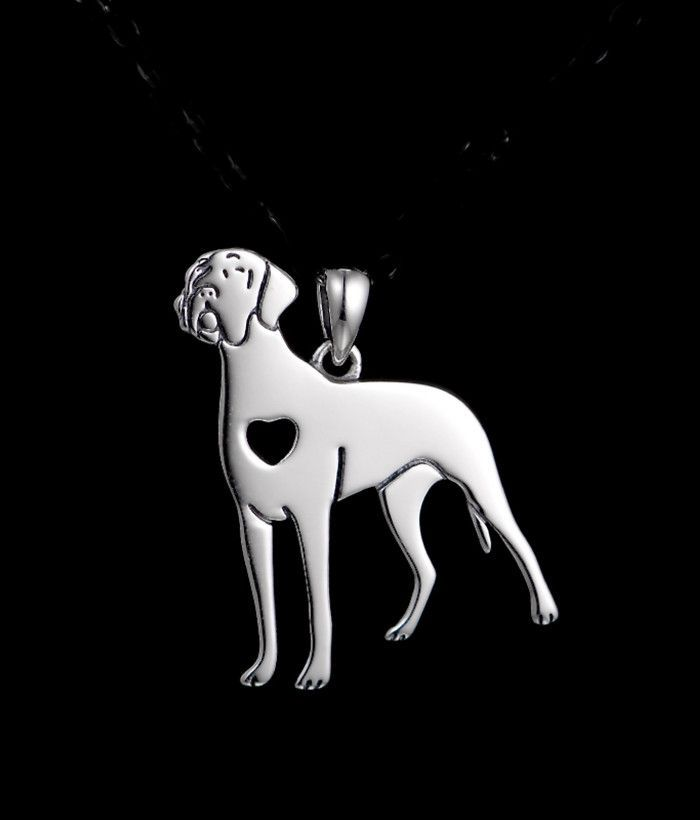 New Great Dane with Heart Cutout Sterling Silver Charm FREE SHIPPING
