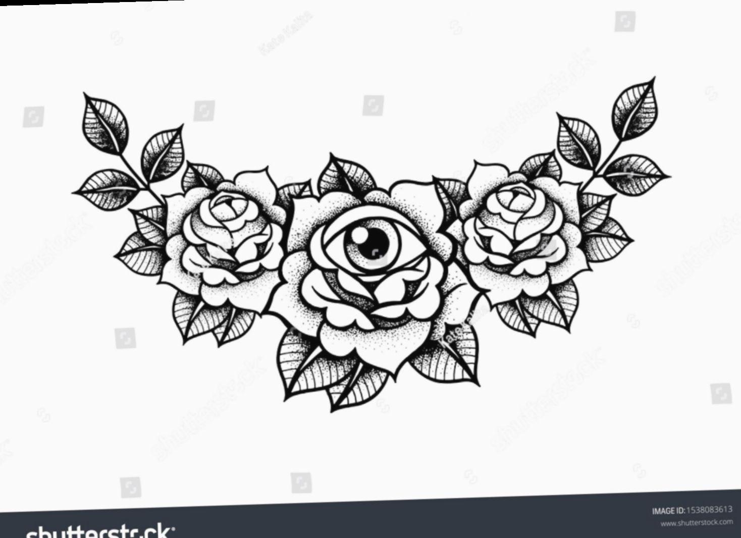 ✔ Tattoo Rose Vintage Ink