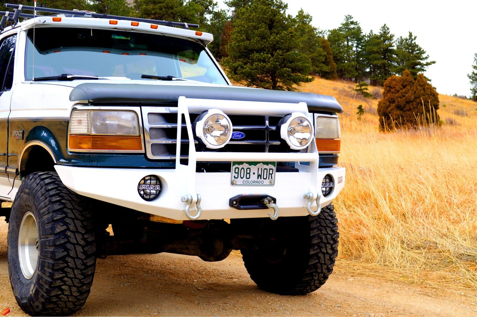 bronco bumper ford 96 winch bumpers f150 92 front custom 1995 guard brush trucks f250 duty truck f350 extreme grille