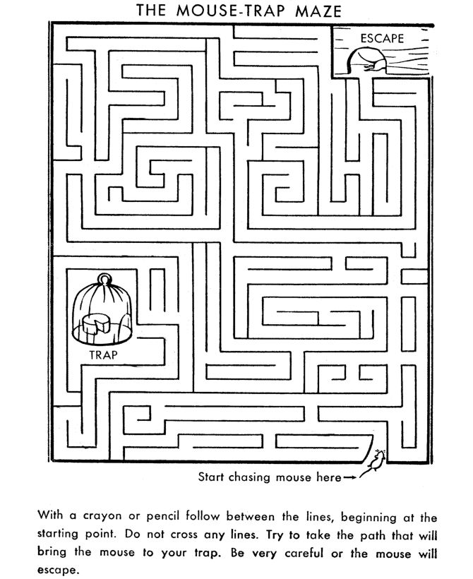 kids activity sheets maze printable - Kid Sheets