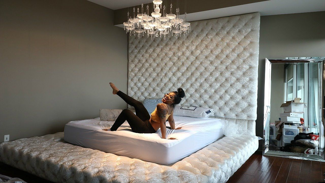 REVEALING OUR NEW CUSTOM BED!!!! YouTube Bed, Living