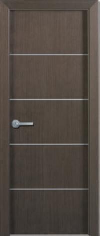Puertas Lisa Con Inserciones En Aluminio Chapa Roble