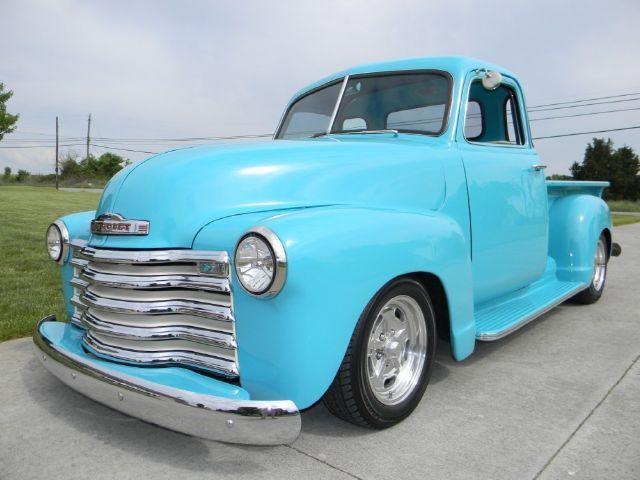 53 Chevy Truck Light Blue Classic Pickup Trucks 53 Chevy Truck