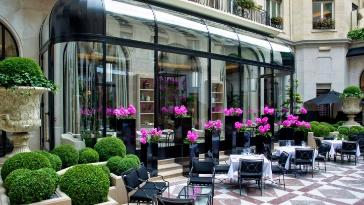 Marble Courtyard at Four Seasons Hotel George V, Paris