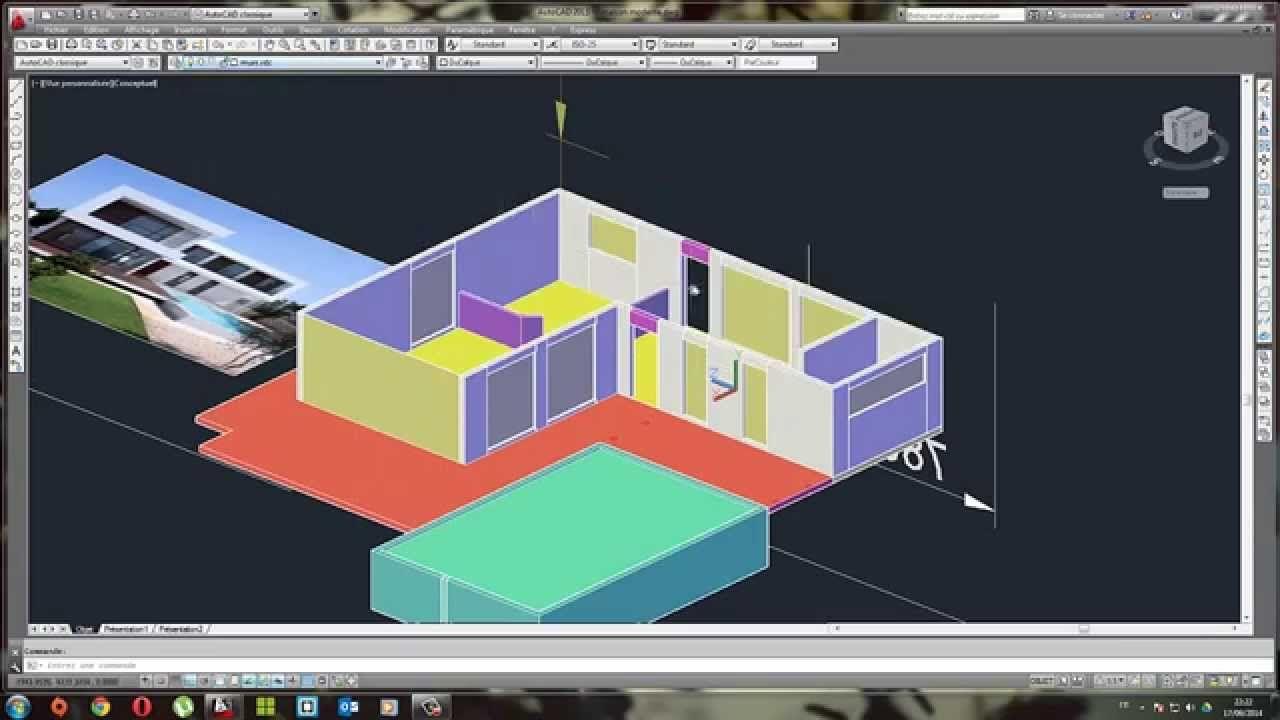 Modélisation En 3D Du0027une Maison Moderne Partie 3