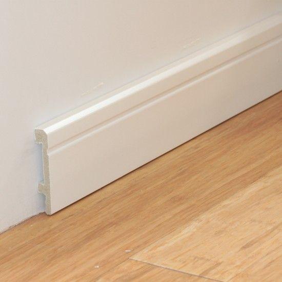 Fußbodenleisten Weiß sockelleiste pst weiß w2 80mm 2 5m 001 wz