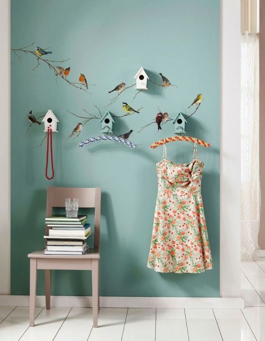 Ganz aus dem Häuschen | Wandsticker, Wanddekoration und Vogel | {Wanddeko babyzimmer 59}