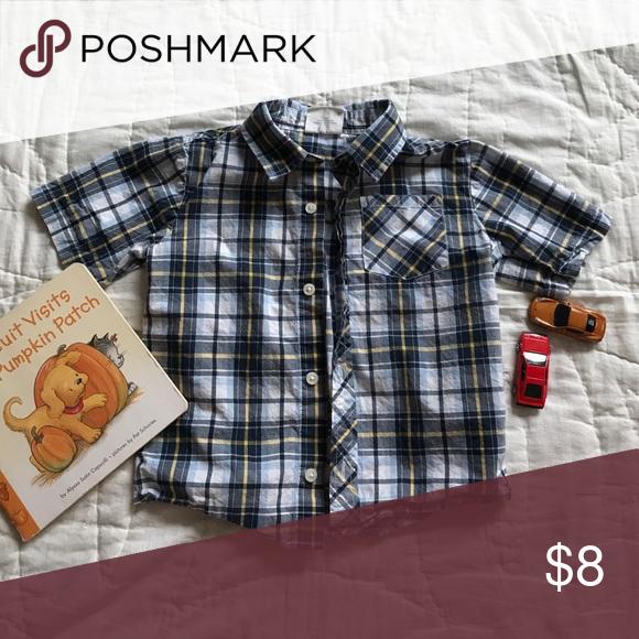 Boys plaid shirt ✈️✈️boys plaid shirt by crazy eight🛩🚀 Shirts & Tops Polos