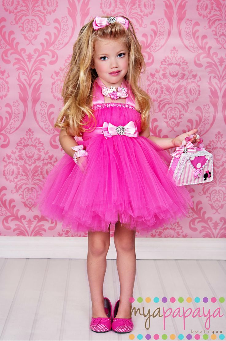 barbie costume tutu dress 12months 5t matching hair bow birthday halloween etc the - Halloween Costume Barbie