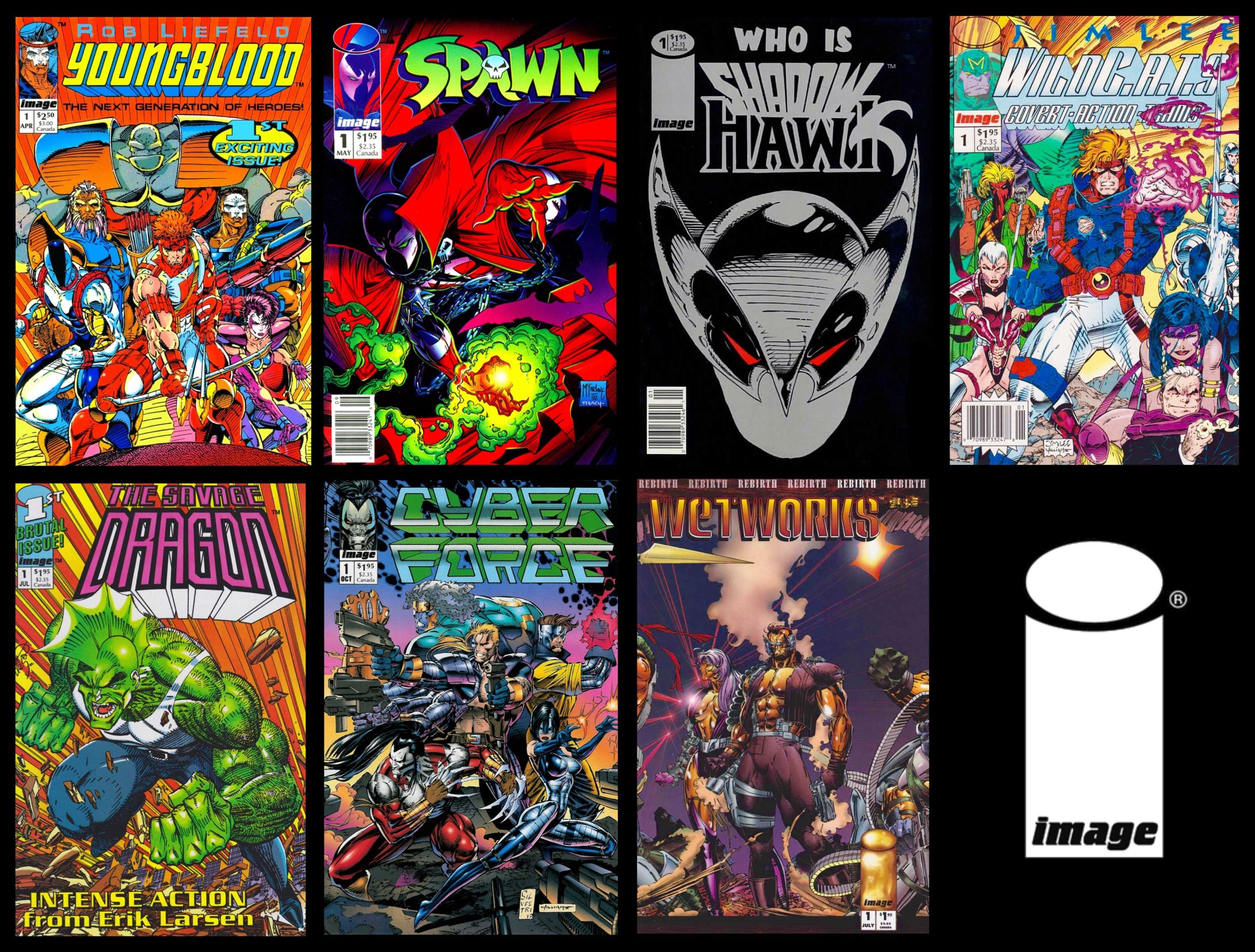 First Issues Of The Core Image Comics Titles By The Seven Original Founders Rob Liefeld Todd Mcfarlene Jim Lee Jim Valentino Erik Larsen Marc Silve Komiksy