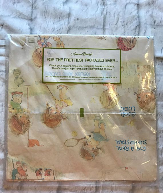 Vintage american greetings all occasion gift wrap ge 1651b american greetings m4hsunfo