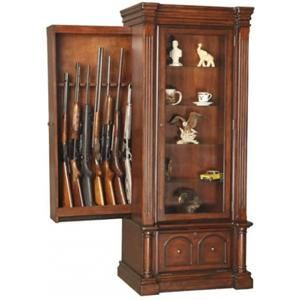 American Furniture Clics Gun Cabinets Curio Cabinet With Slider Combo 888