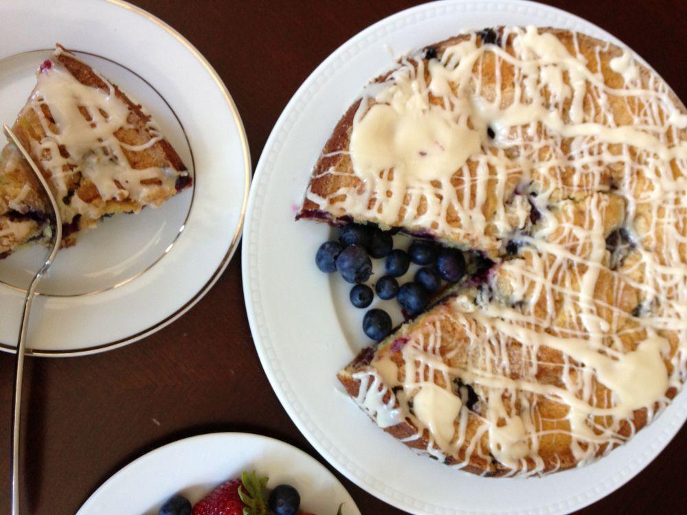 Blueberry and Jam Buttermilk Coffee Cake Buttermilk