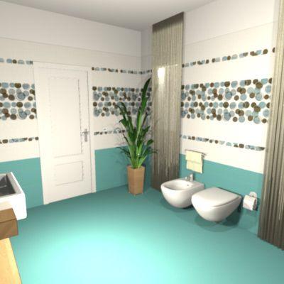 Come arredare un bagno grande I sanitari sospesi con scarico a ...