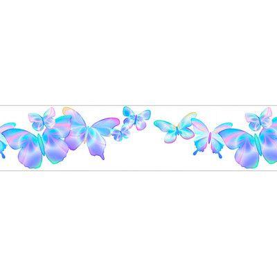 """Fluttering Free Style 12' x 6"""" Butterflies Border"""