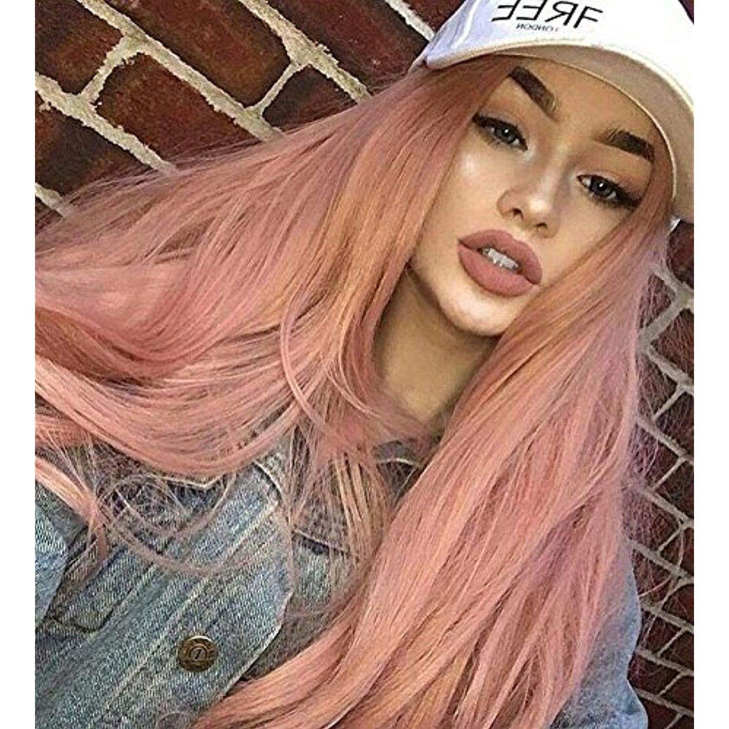 Zenith classic pink lace front wigs for party fashion cute baby pink