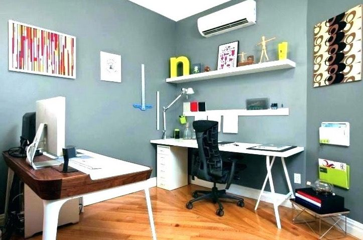 Ordinaire 30 Examples And Expert Tips In Home Office Painting Ideas | Interior Design  Ideas