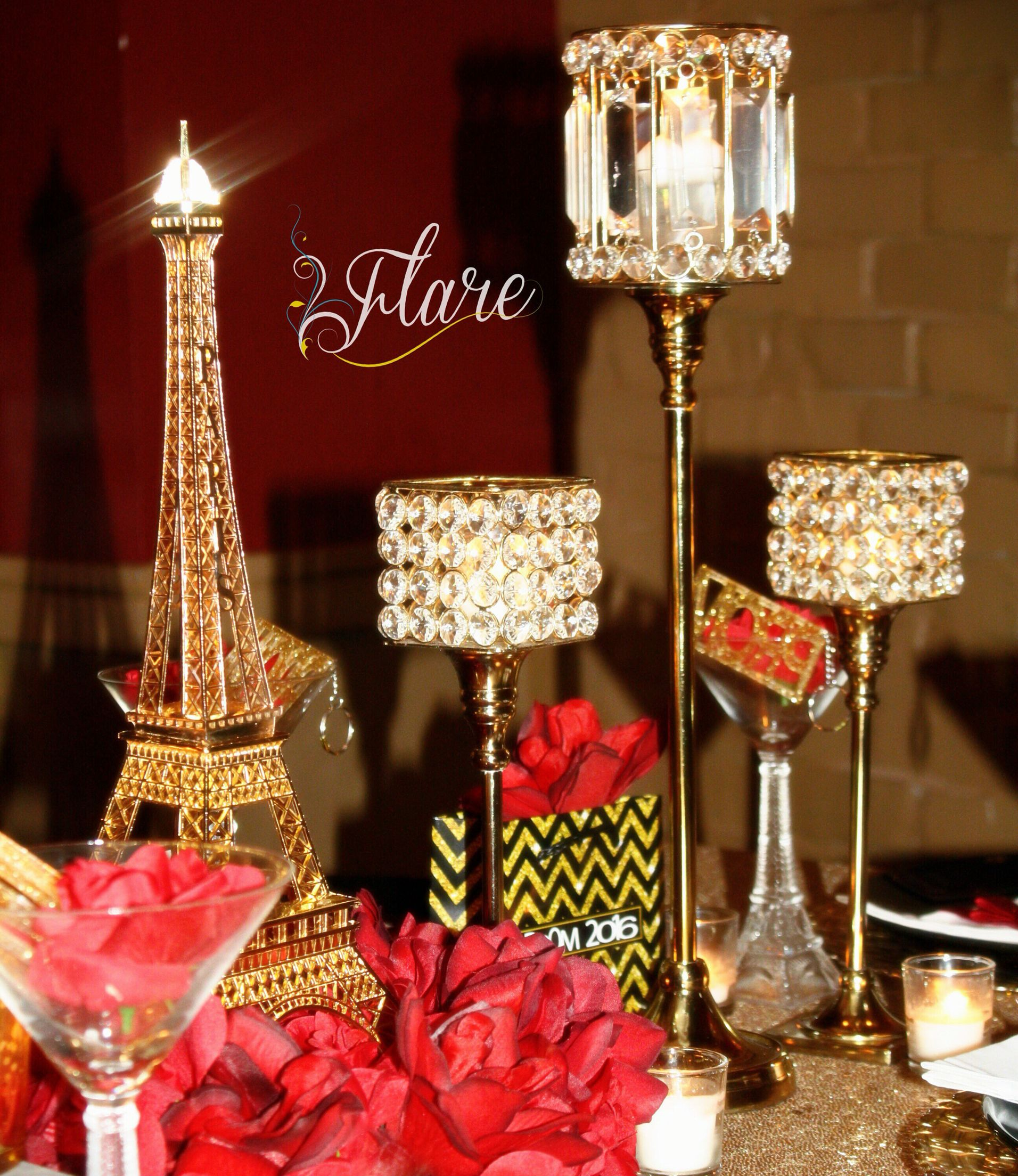 A night in paris pre prom dinner a night in paris pre for Paris themed decor