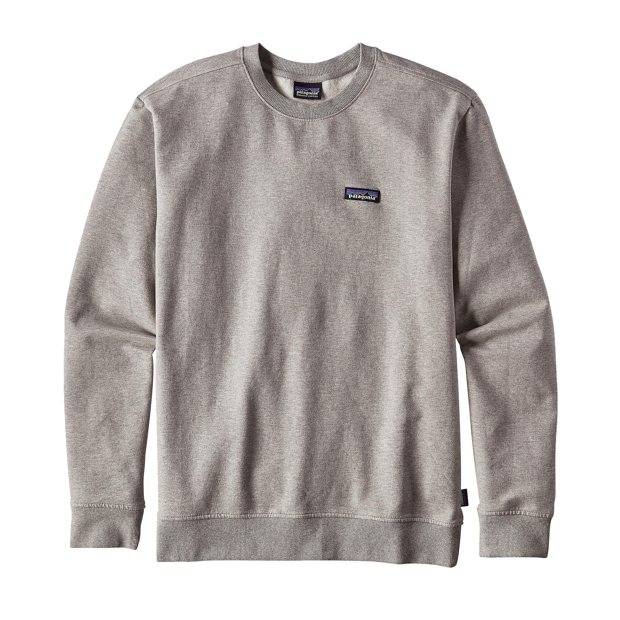 The Patagonia Men S P 6 Label Midweight Crew Sweatshirt Is A Comfortable Pullover Style Organic Cotton Pol Sweatshirts Long Sleeve Tshirt Men Mens Sweatshirts [ 2000 x 2000 Pixel ]