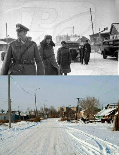 Then & Now Stalingrad February 1943. Field Marshall von Paulus after surrendering the German VI Army.