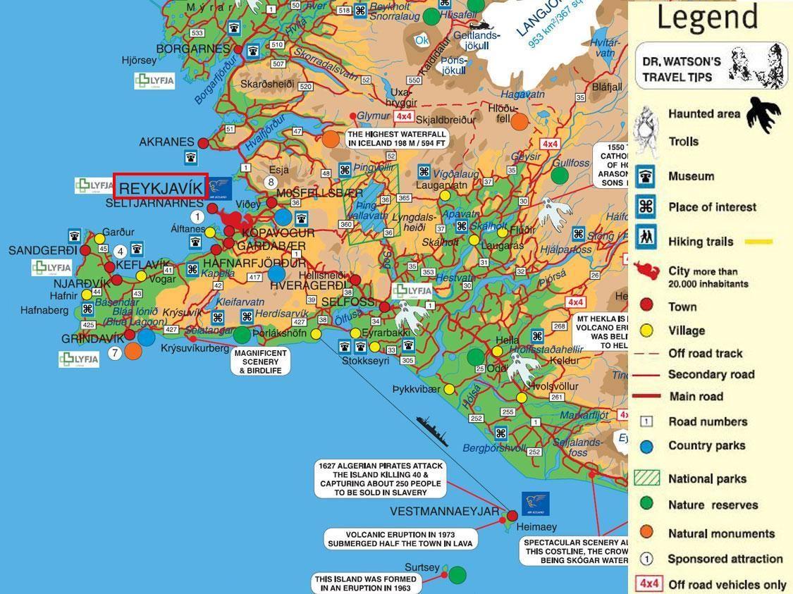 Reykjavik Iceland Tourist Map Reykjavik mappery – Iceland Travel Map