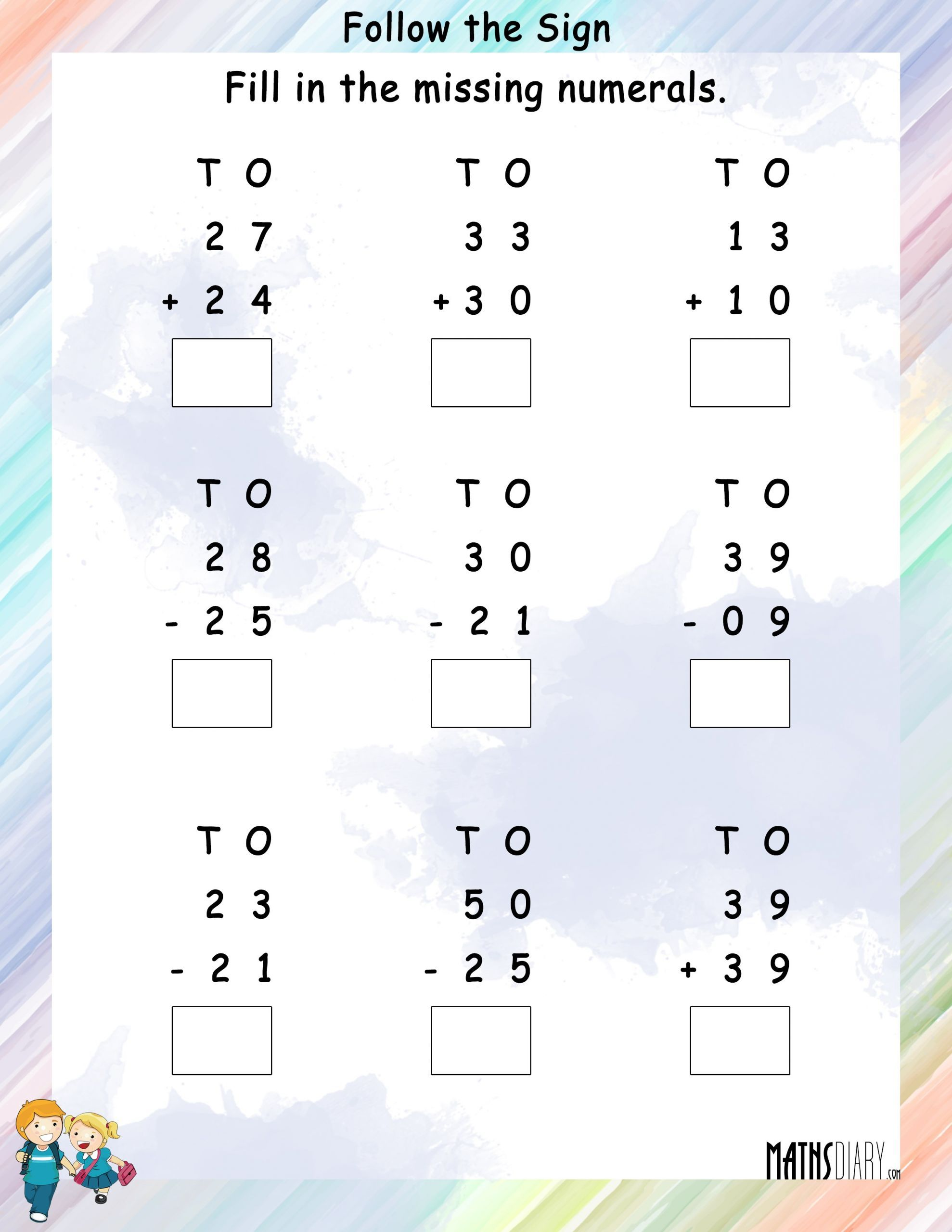 3 Math Addition And Subtraction Worksheets In