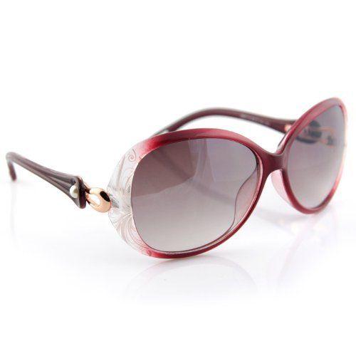 585a1bb99cb Evolatree - Vintage Chic UV 400 Womens Sunglasses - With Soft Cloth Dual  Cleaning Case - Plum Wine Evolatree.  18.99