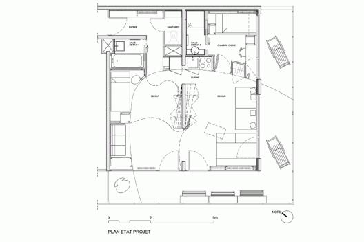 The Cabin H2o Architectes Floorplans Cabin Apartment Design