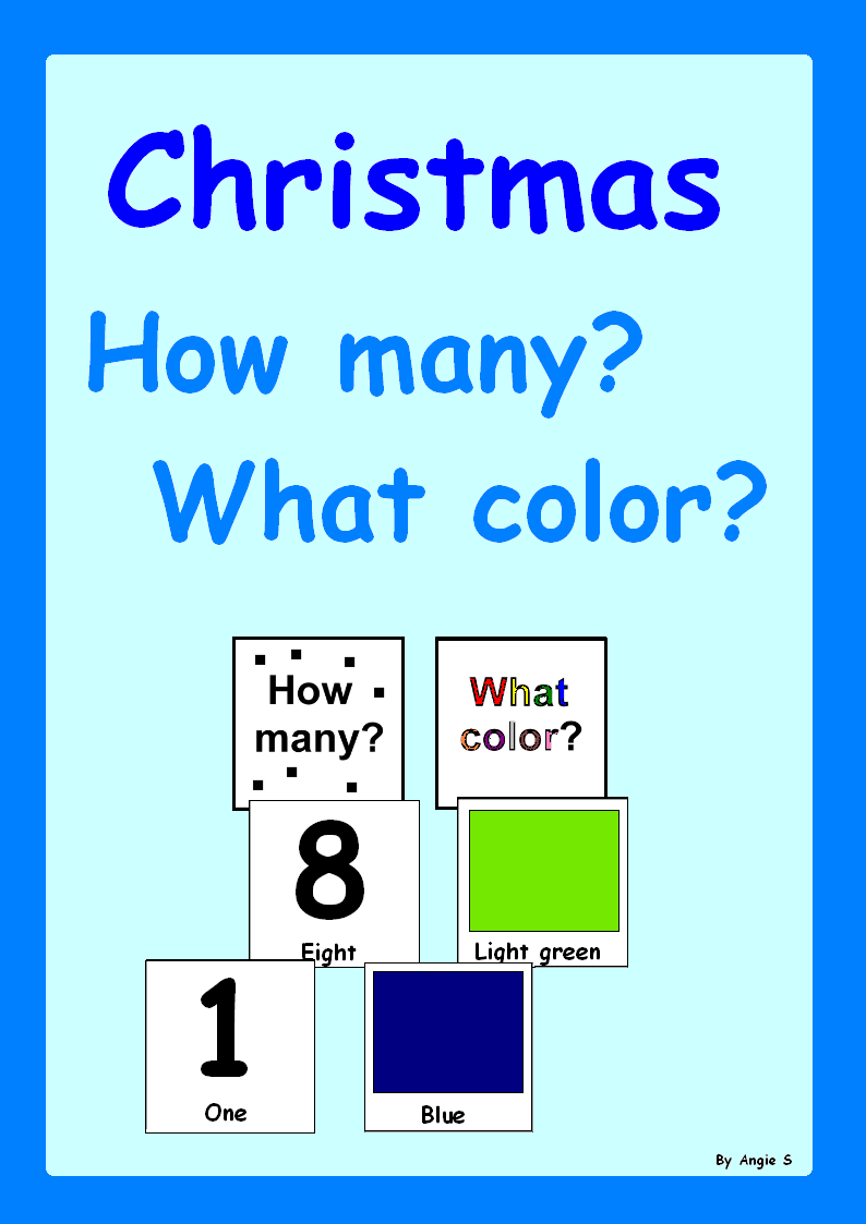 Christmas Activity HOW MANY? WHAT COLOR? Adapted Book for Autism ...
