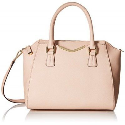 Calvin Klein Saffiano Convertible Satchel Bag, Intimate, One Size - H5GD14JE