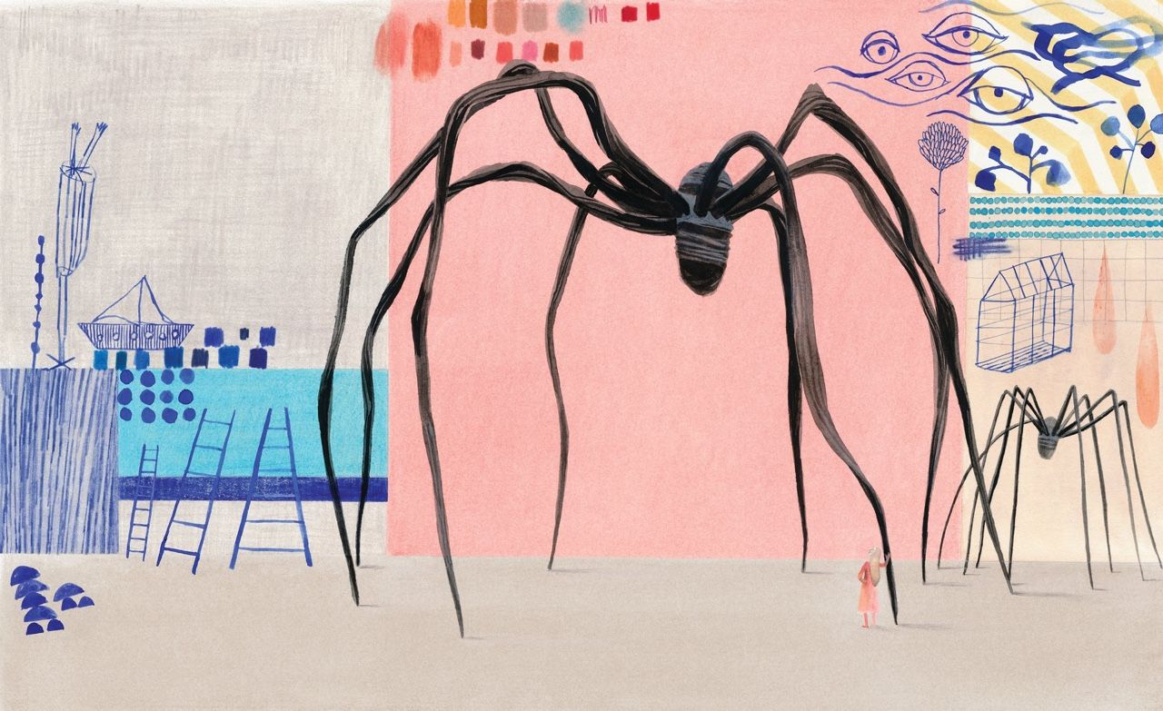 Je le guettais il y a quelques mois, il est sorti. Il a l'air splendide le nouvel album d'Isabelle Arsenault, avec un texte d'Amy Novesky, Cloth Lullaby, The Woven Life of Louise Bourgeois. Tout l'art...