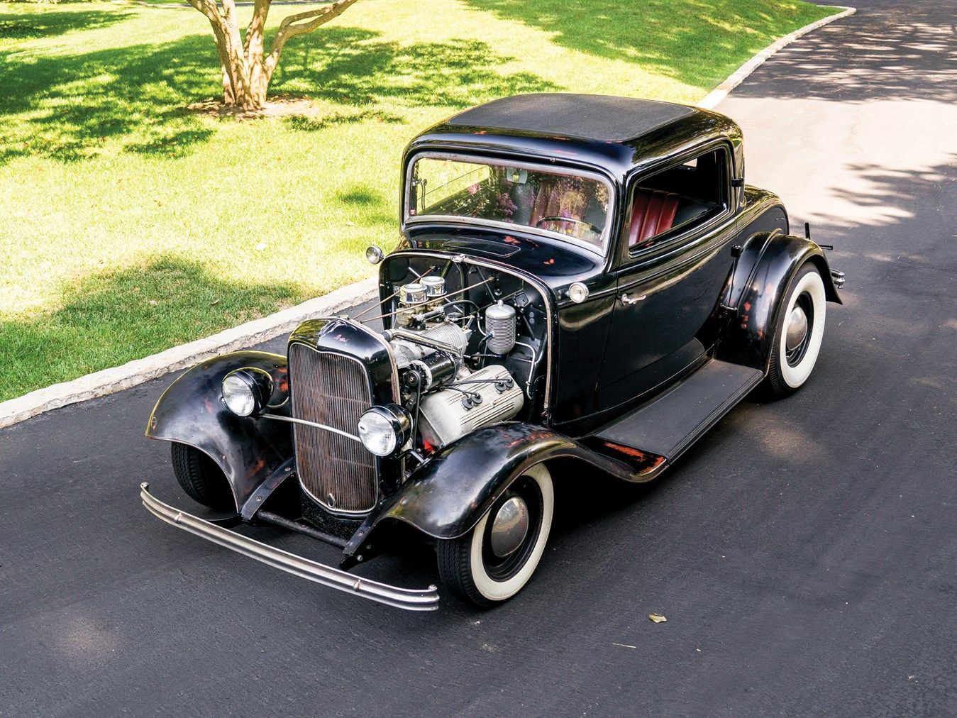 1932 Ford Three-Window Coupe Hot Rod   Old School   Pinterest   1932 ...