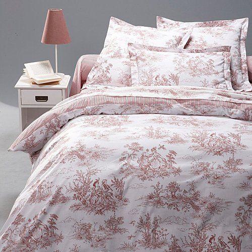 housse de couette toile de jouy bordeaux la redoute coups de coeur housses de couette. Black Bedroom Furniture Sets. Home Design Ideas
