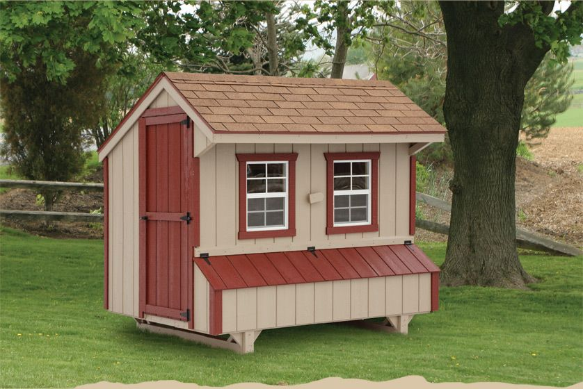 A Normal Looking Hen House With A Smart Looking Paint Job Nice Color Choices Henhouse Www Freehenhousepl Chickens Backyard Chicken Coop Designs Chicken Coop