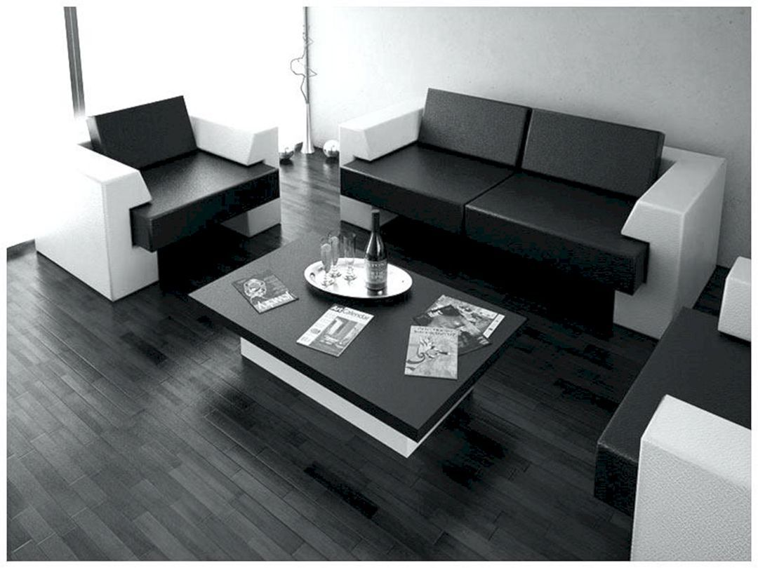 15 Amazing Living Room Decoration Ideas With Black Furniture Black And White Living Room Living Room White Modern White Living Room