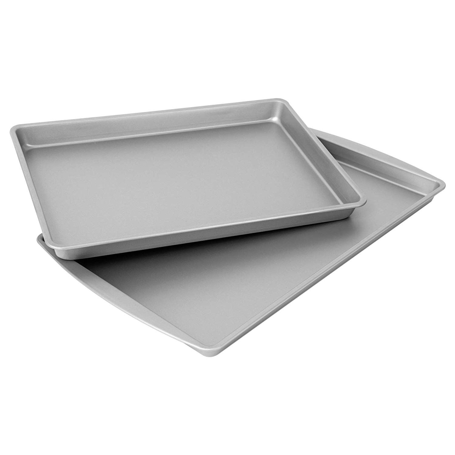 Ovenstuff Non Stick Cookie Pan And Sheet Pan Set Includes Two Duraglide Coated Nonstick Steel Pans Includes Large 17 3a X Sheet Cake Pan Pan Set Sheet Pan