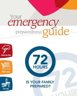 72 Hour Emergency Preparedness Kit info from Canadian government