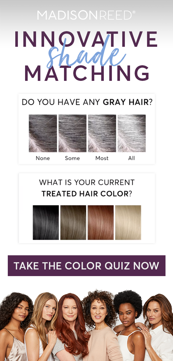 Ready To Ditch The Drugstore Box Hair Dye Match Your Current Color Easily With Our Color Finder Quiz Or Spe Hair Color Madison Reed Hair Color Hair Color Quiz