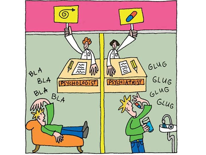 The difference between psychologist and psychiatrist
