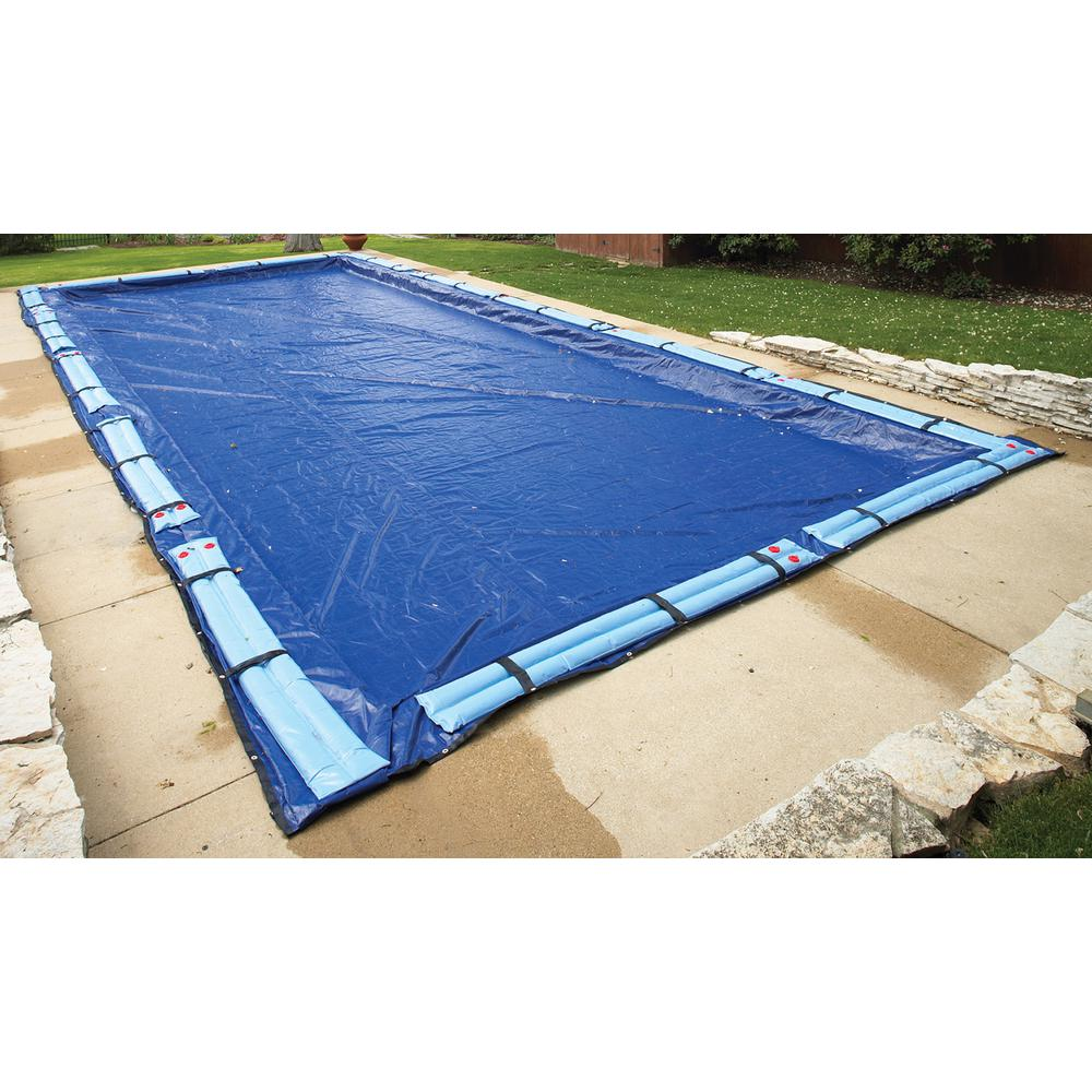 Blue Wave 15 Year 30 Ft X 50 Ft Rectangular Royal Blue In Ground Winter Pool Cover Bwc974 The Home Depot Winter Pool Covers Pool Cover Solar Pool Cover